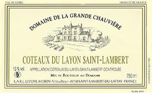 Etiquette Coteaux du Layon Saint Lambert