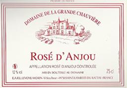 Etiquette Rosé d'Anjou
